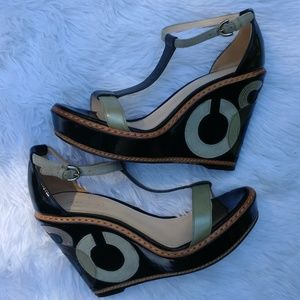 Coach 1941 Maggie Crinkle wedge shoes